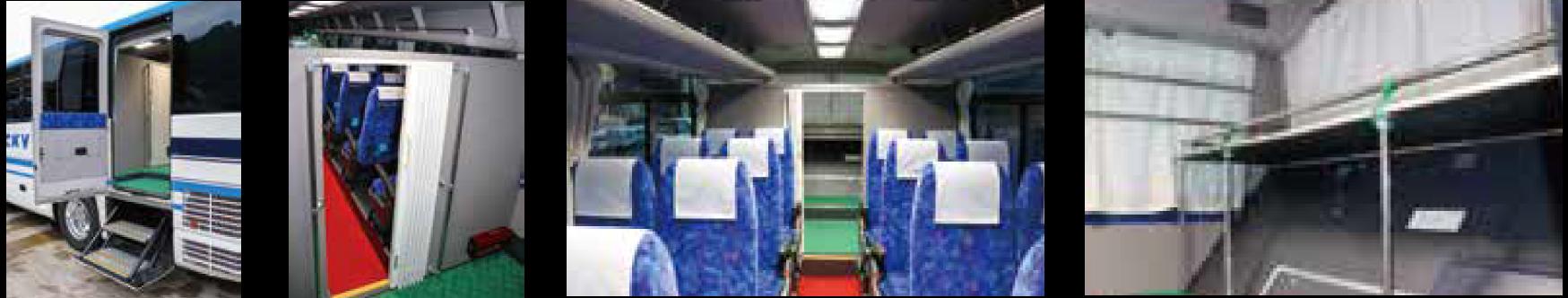 中型特殊バス内装